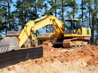 excavator for land clearing in Blue Ridge, GA